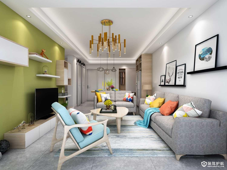 东壹区北欧风格二居室装修效果图