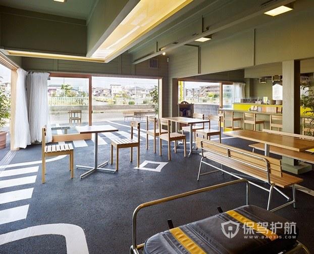 米蘭時尚工業風創意咖啡廳裝修效果圖