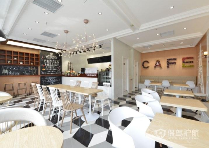 西式简约时尚咖啡厅地面装修效果图