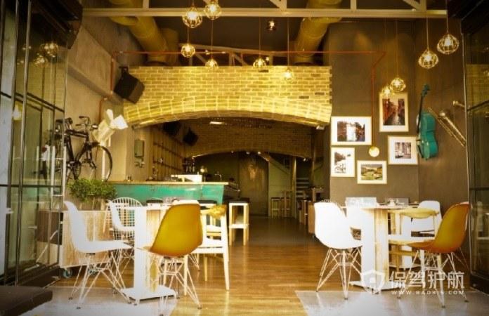 休闲时尚工业风咖啡厅装修效果图