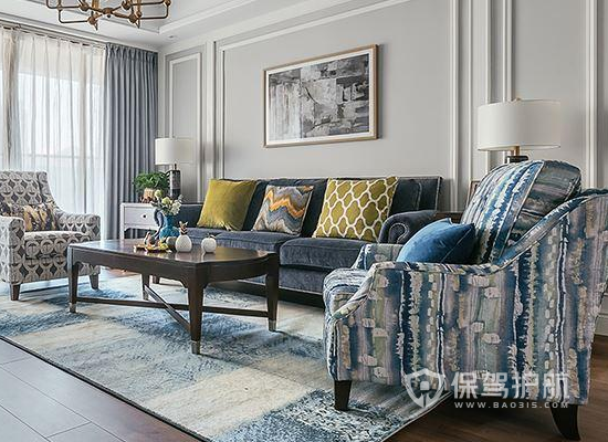 如何打造美式轻奢家居?146㎡三房两厅美式轻奢装修效果图