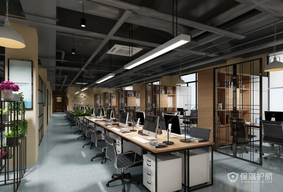 开放式办公区装修效果图