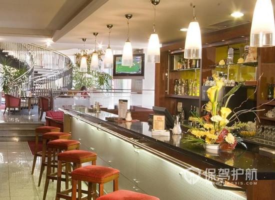 95平米特色現代小吃店吧臺裝修效果圖