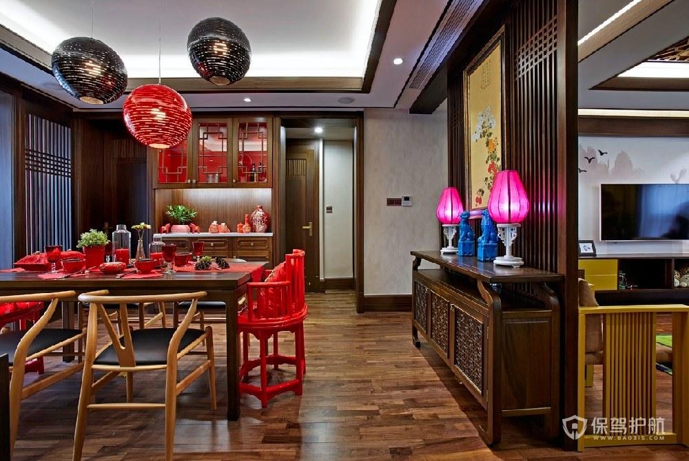 典雅中式四居室餐厅装修效果图