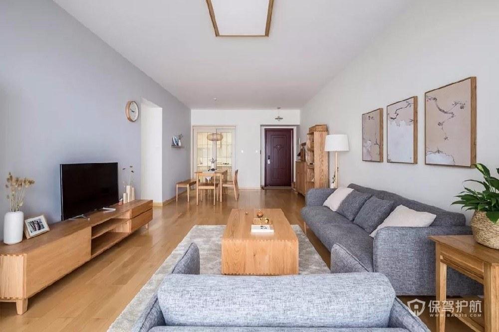 日式简约小户型客厅装修效果图
