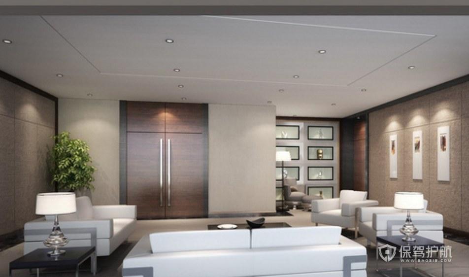 新时尚办公会客室装修效果图