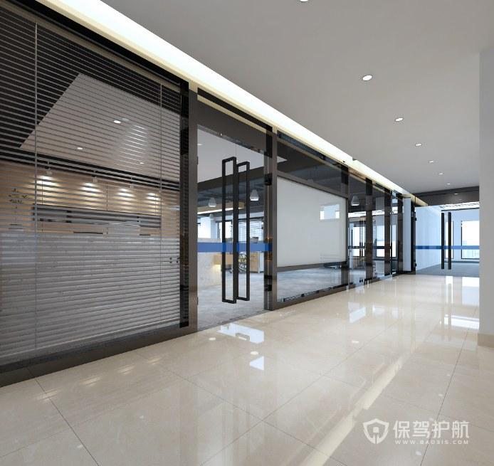 现代风格办公室门厅装修效果图