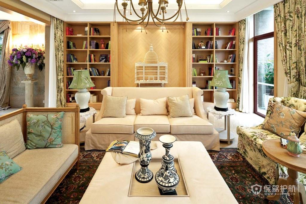 古典欧式别墅客厅装修效果图