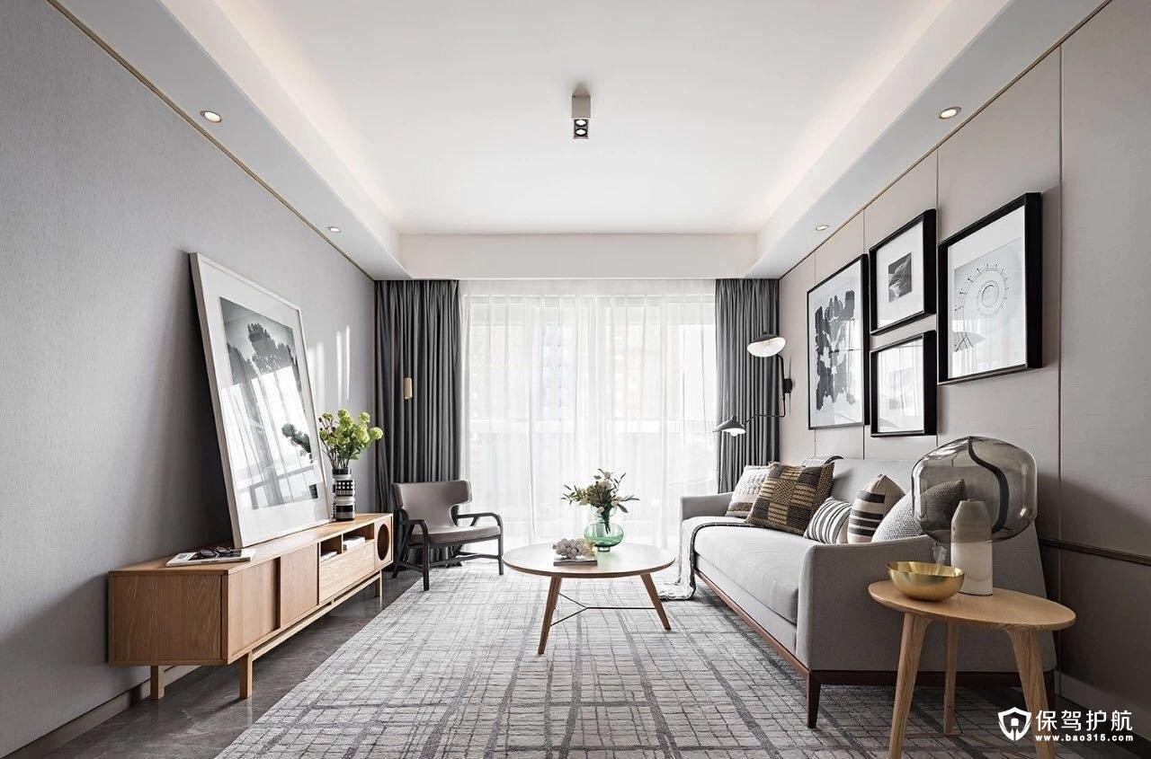 欣芳苑现代简约北欧风二居室装修效果图
