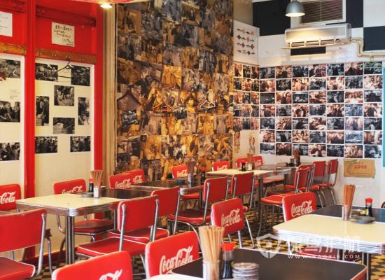 特色日式風格快餐店墻面設計效果圖