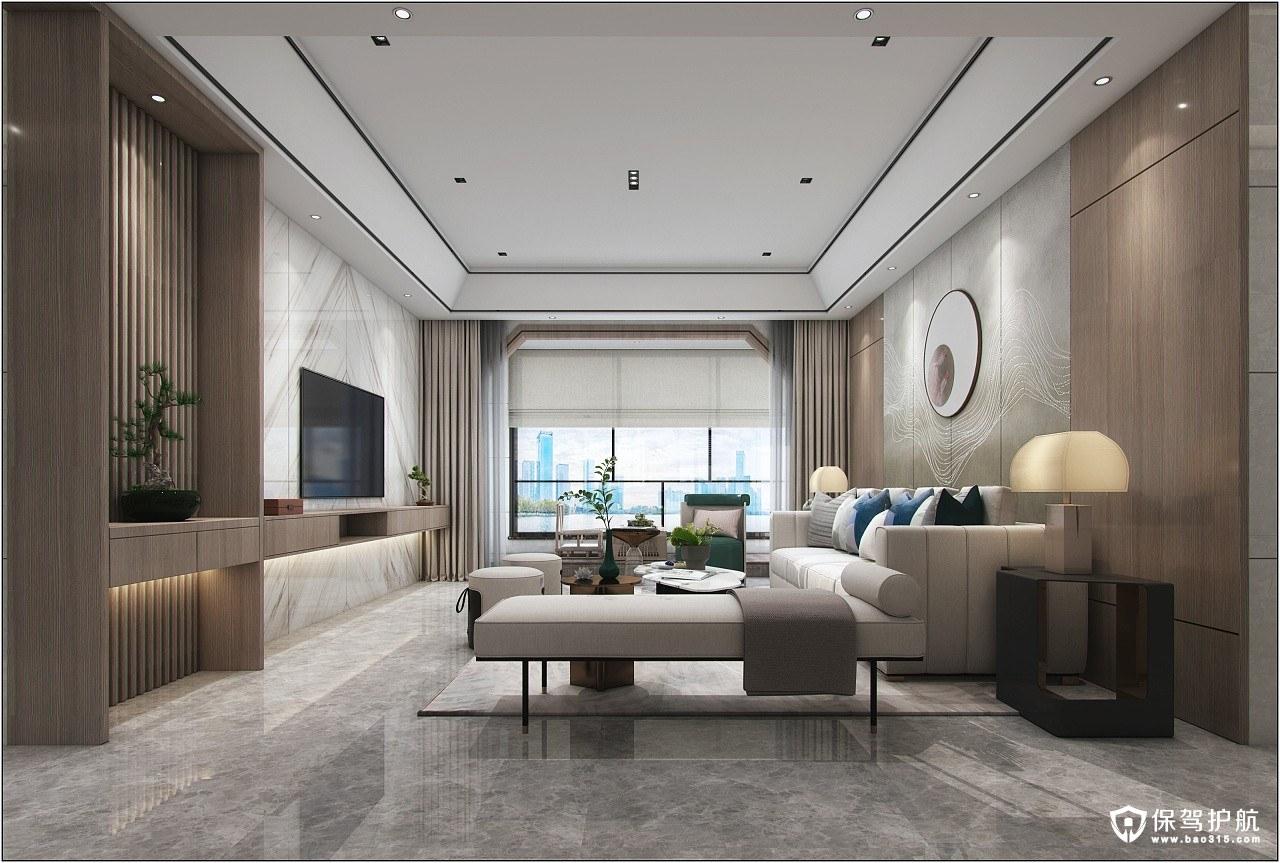 翰福楼新中式风格三居室装修效果图
