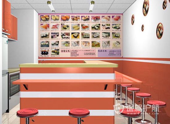 18平米现代风格小吃店装修效果图