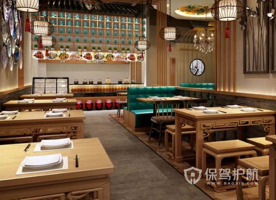 47平米中式风格小吃店装修效果图