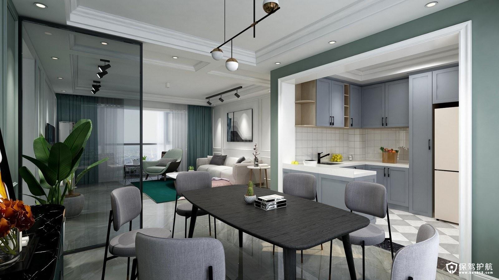 尚城国际北欧风格四居室装修效果图