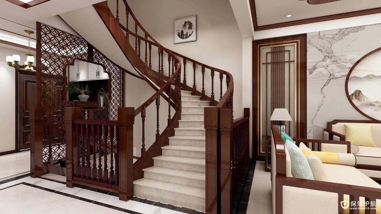 半山豪苑中式风格别墅装修效果图