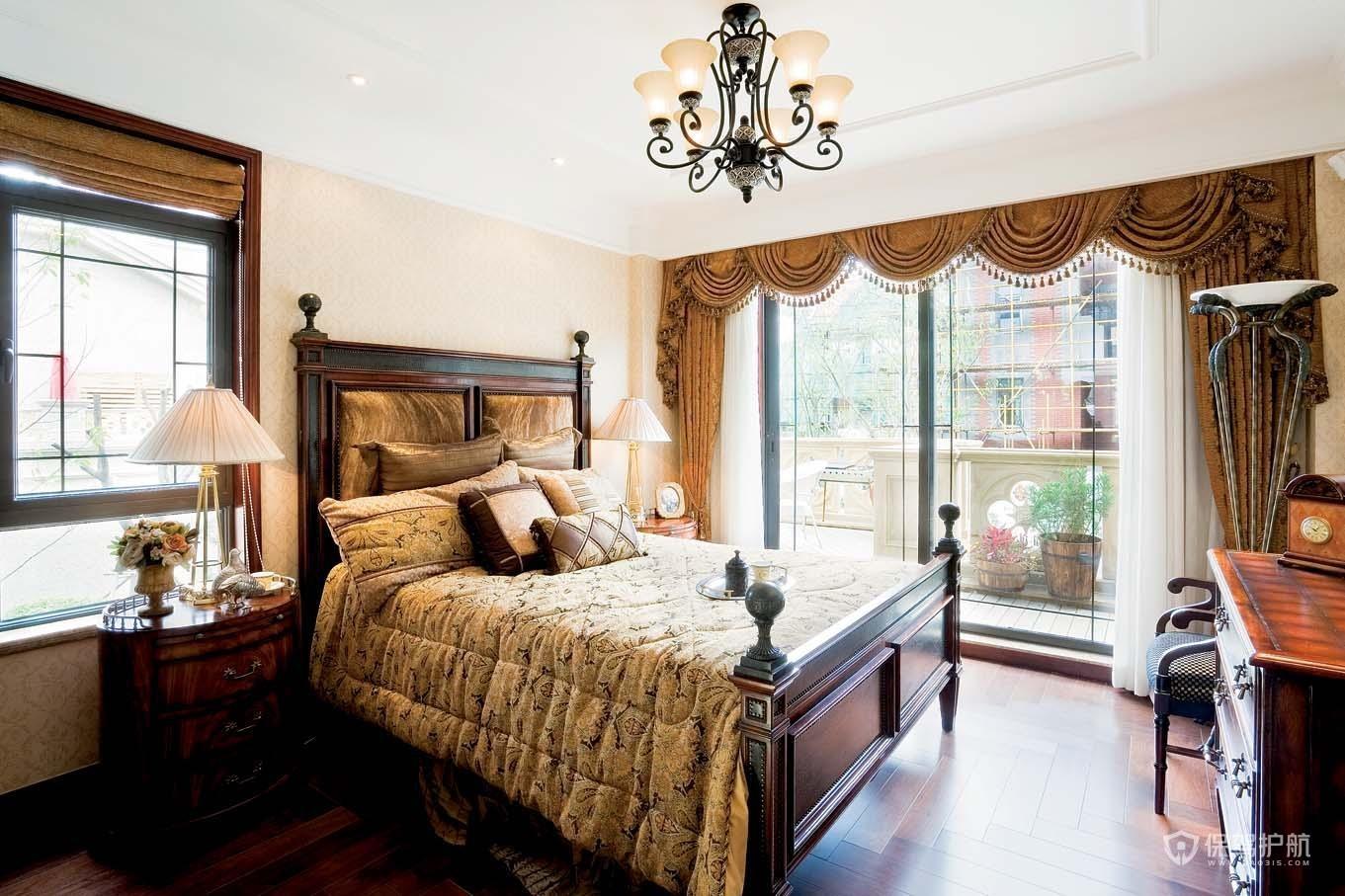 古典风格别墅卧室家具装修效果图