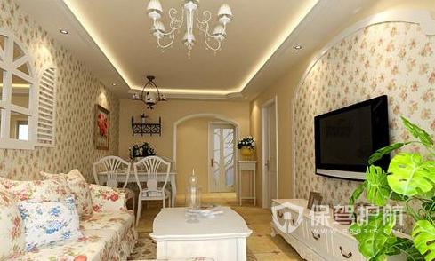 小户型客厅如何装修?小户型田园风格客厅装修效果图