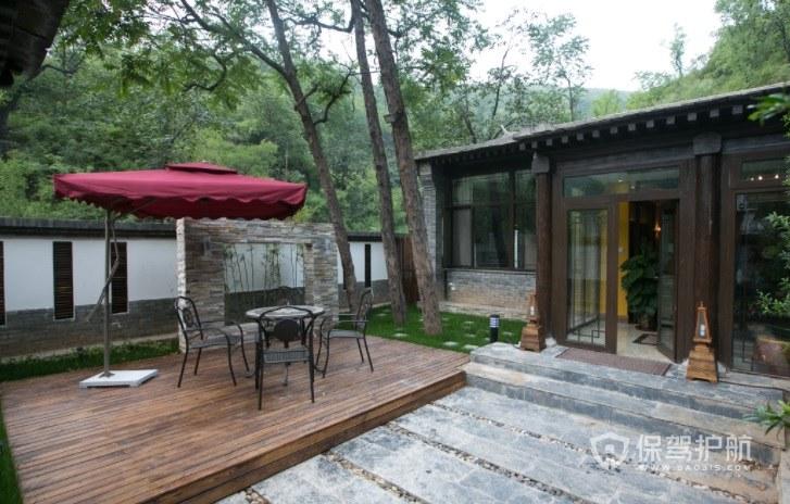 新中式田园风别墅花园装修效果图