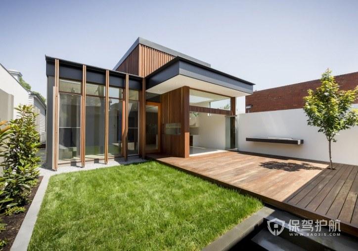 现代简约风复式楼顶花园装修效果图
