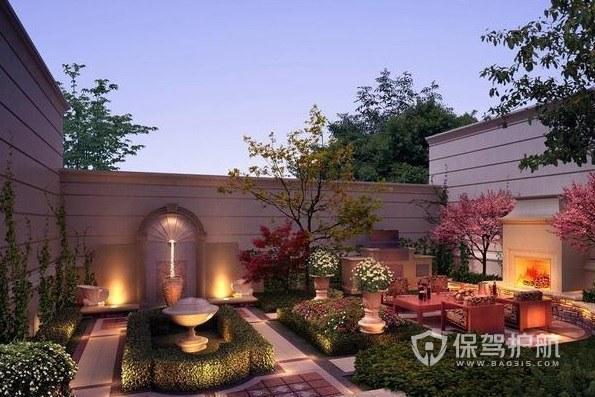 英式田园风别墅创意花园装修效果图