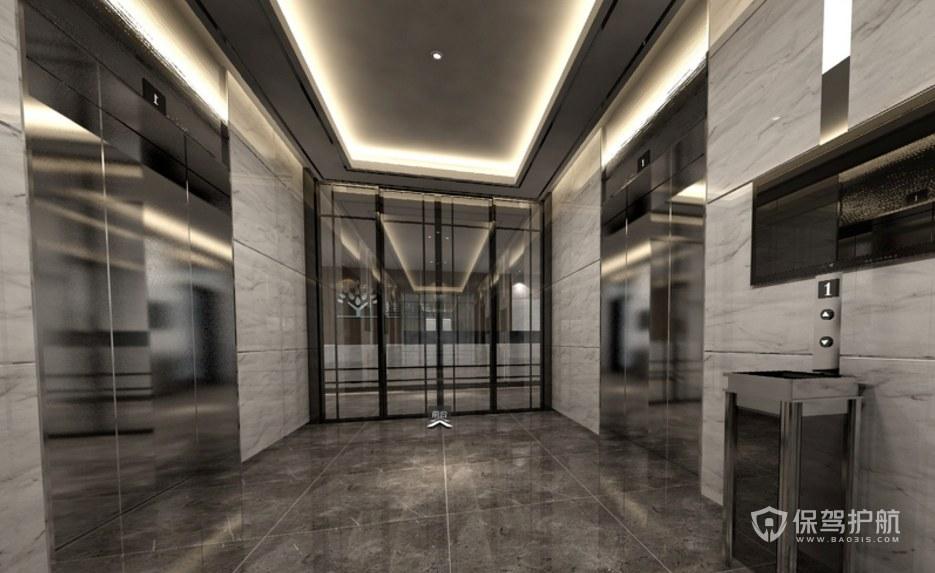 新時尚辦公室門廳裝修效果圖