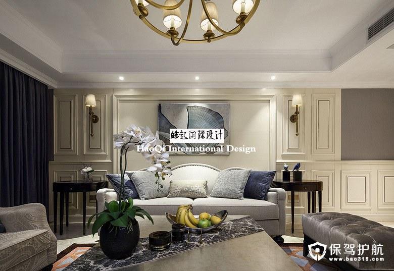 海洋天堂美式风格公寓装修效果图