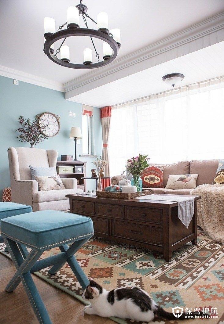 融圣国际美式风格三居室装修效果图