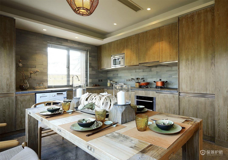 自然乡村风别墅厨房装修效果图