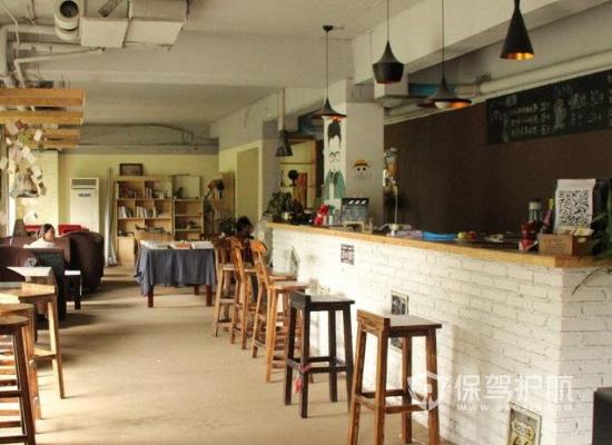 68平米极简风格咖啡馆装修效果图