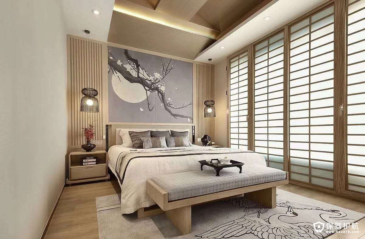 凯旋城日式风格三居室装修效果图