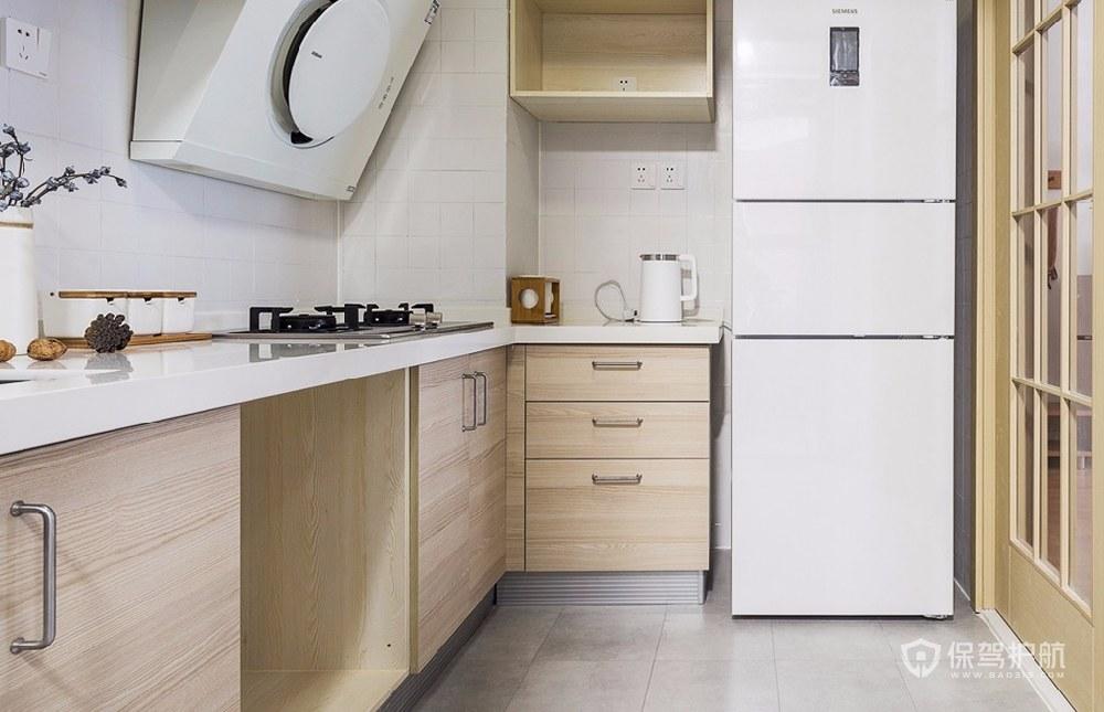 60平日式極簡風風小戶型廚房裝修效果…