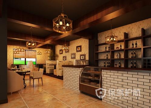 48平米欧式风格咖啡馆装修效果图