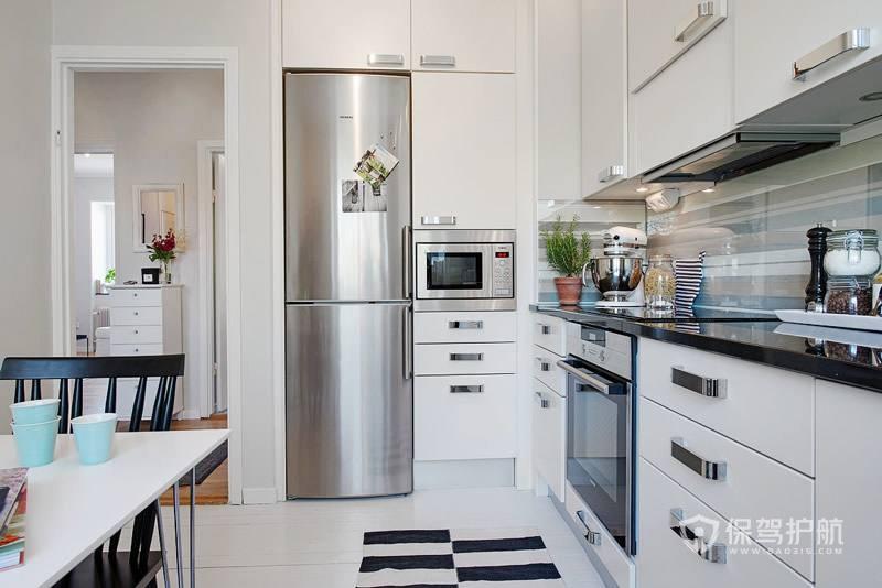 北歐風單身公寓小廚房裝修效果圖