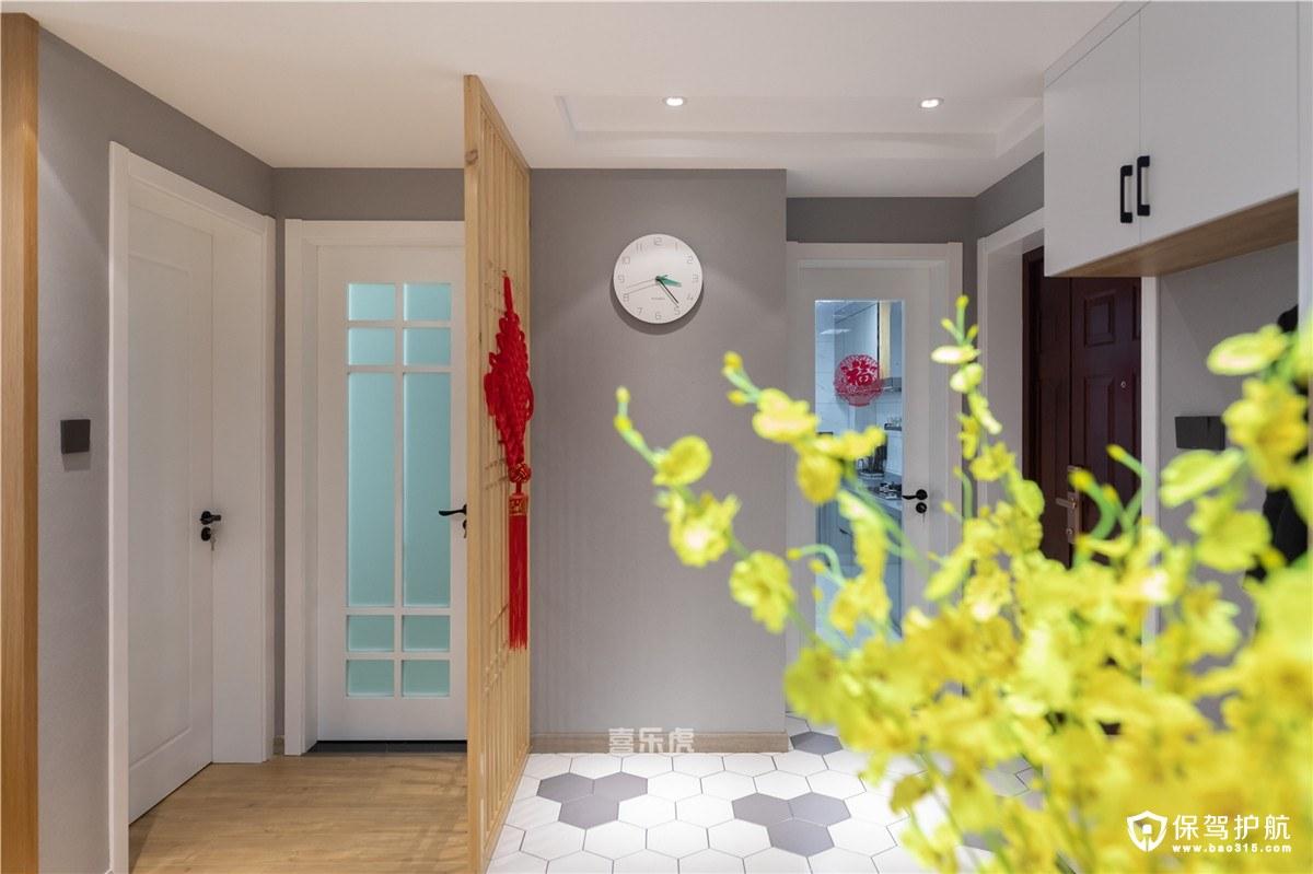 弘阳上城90平北欧风格二居室装修效果图