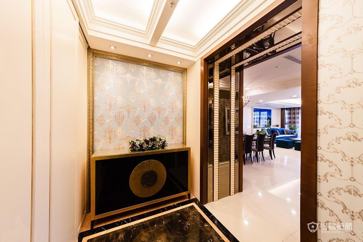 180平豪华古典风四居室玄关吊顶装修效果图