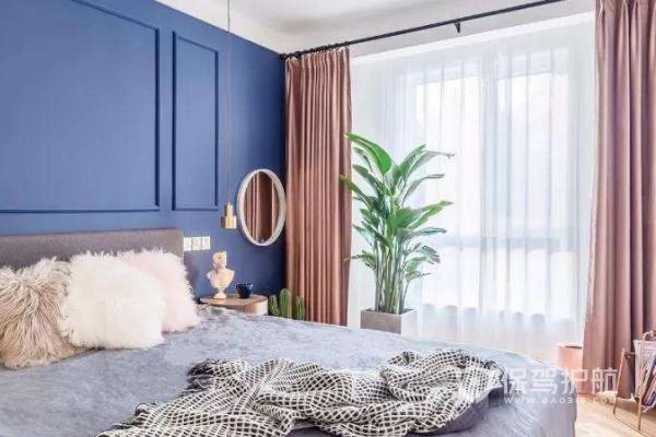 淡藍色墻面怎么配窗簾?淡藍色墻面配窗簾圖片
