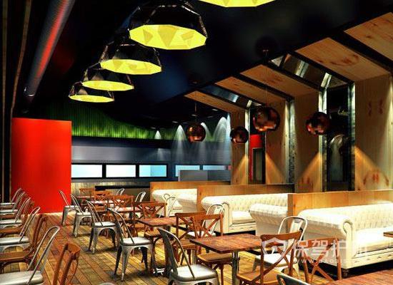 100平米简欧风格咖啡馆吊灯设计效果…