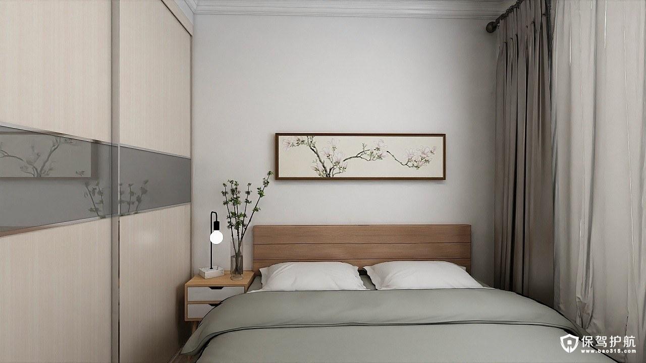 恒大名都日式风格三居室装修效果图