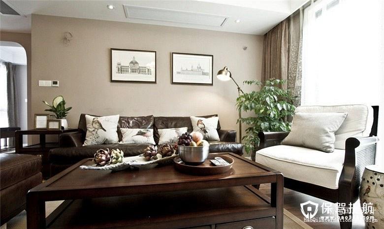 曼特宁咖啡美式风格三居室装修效果图