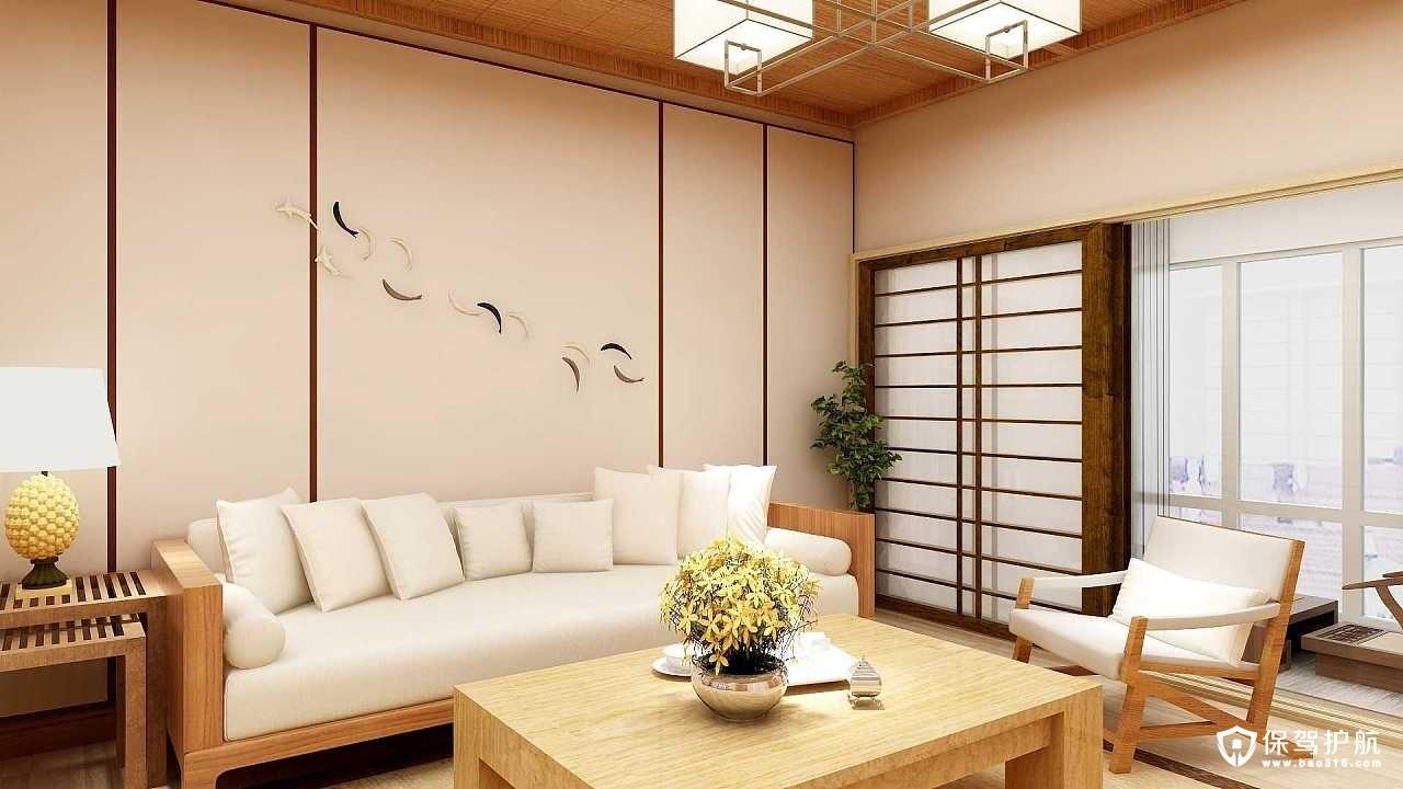 海德公园日式风格三居室装修效果图