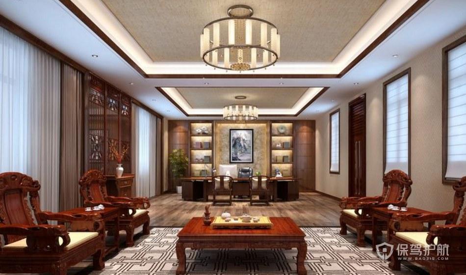 中式风格总裁办公室装修效果图