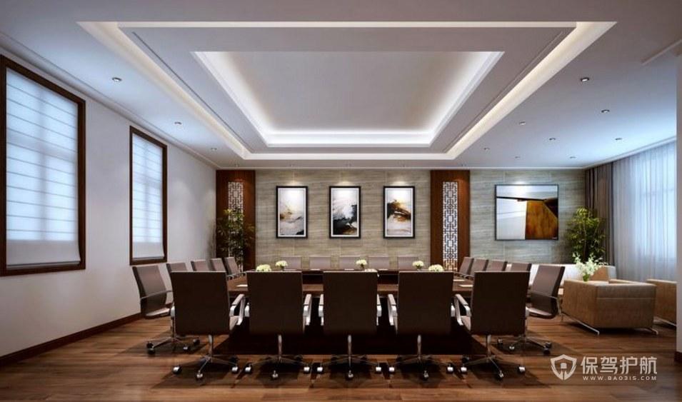 简欧风格办公会议室装修效果图