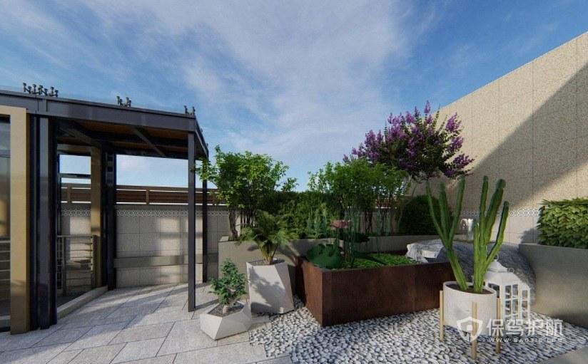 意大利简约风楼顶创意空中花园装修效…