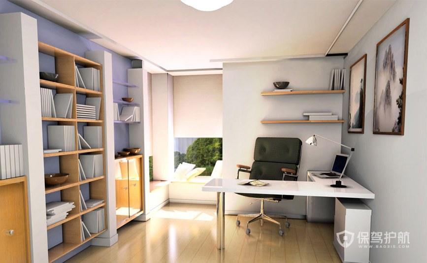 现代风格二居室书房装修效果图