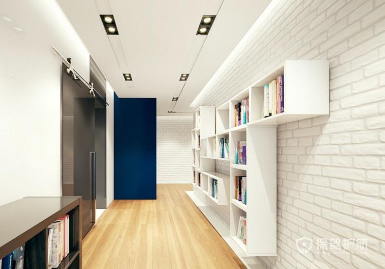 簡約北歐風公寓走廊墻面裝修效果圖