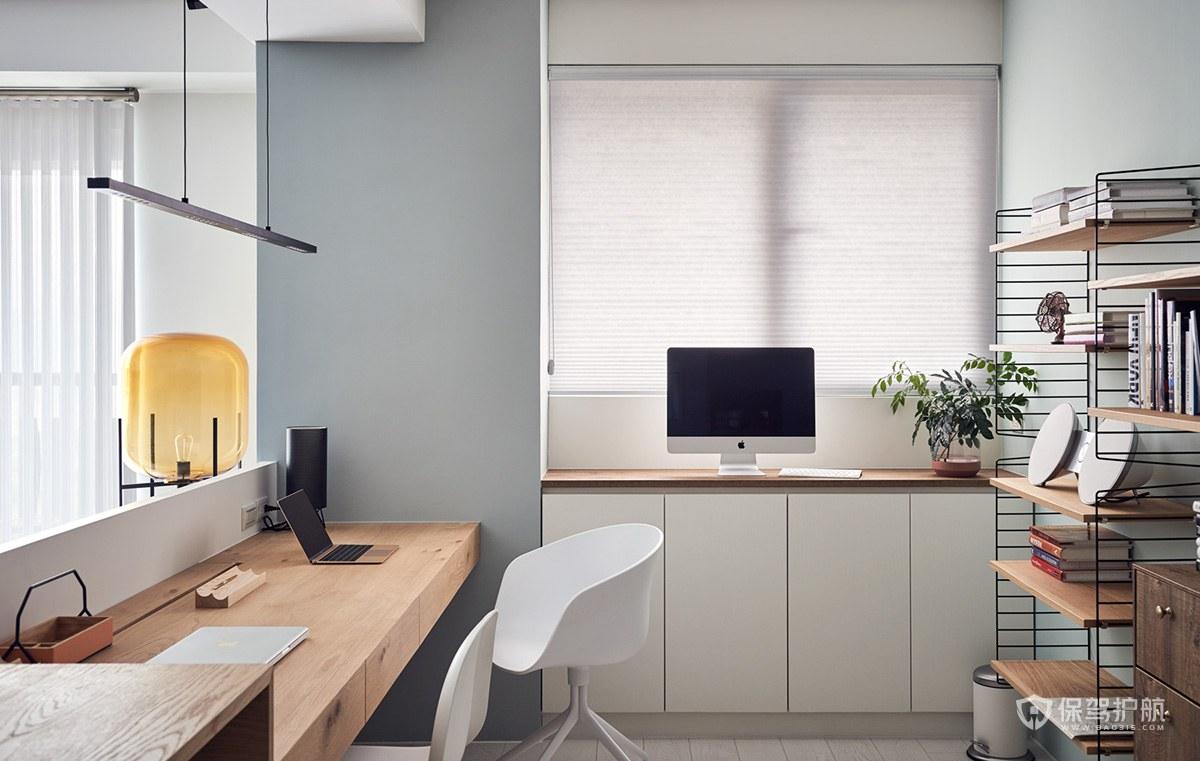 北欧宜家风公寓开放式书房装修效果图