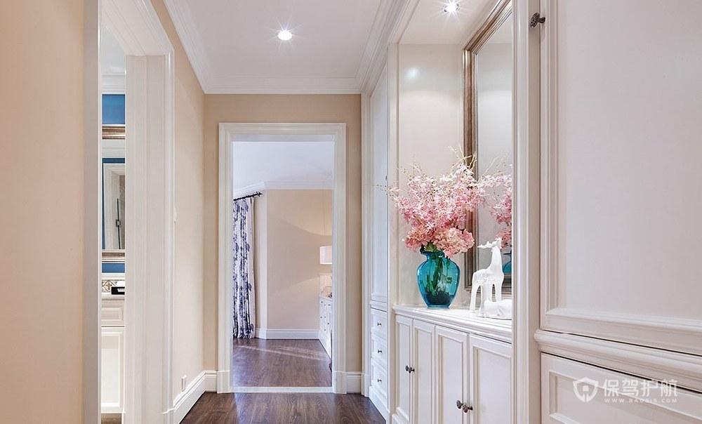 170平精致美式風格三居室走廊裝修效…