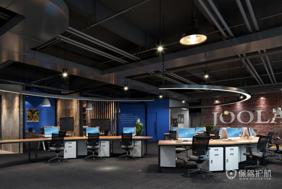復古風格辦公室辦公區裝修效果圖