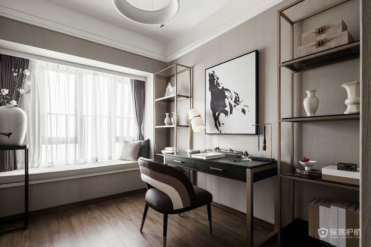 160平新中式风格三居室书房装修效果图