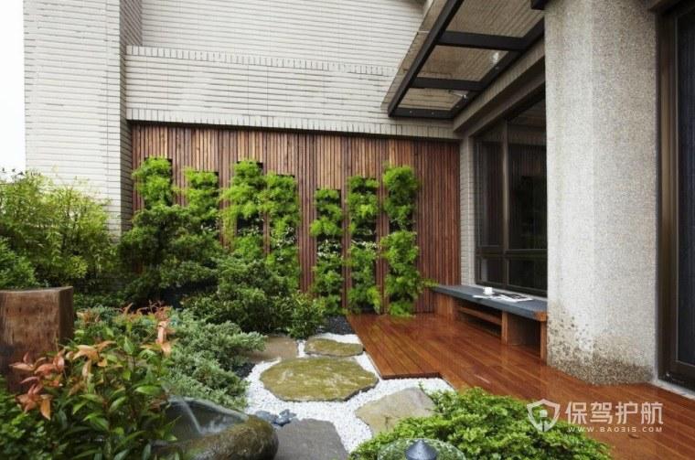 新古典田园风楼顶空中花园装修效果图